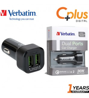 Verbatim Dual QC3.0 & FCP Car Charger