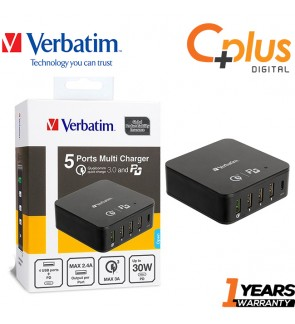 Verbatim 5 Ports QC3.0 & Power Delivery Multi Charger