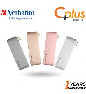 Verbatim Type-C Hub with Type-C PD Charging, USB 3.0 & MicroSD/SD