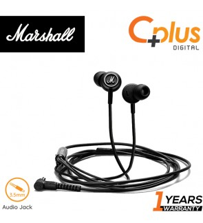 Marshall Mode In-Ear Headphones with Microphone, Black/White