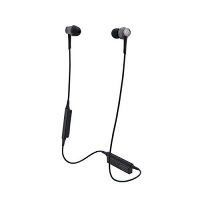 Audio Technica ATH-CKR55BTBK Sound Reality Bluetooth Wireless In-Ear Headphones with In-Line Mic & Control