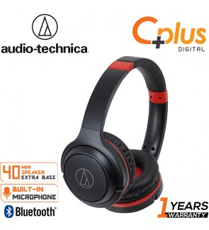Audio Technica ATH-S200BTGBL Bluetooth Wireless On-Ear Headphones with Built-In Mic & Controls