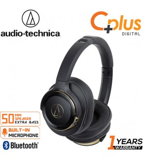 Audio Technica ATH-WS660BT Solid Bass Bluetooth Wireless Over-Ear Headphones with Built-In Mic & Control