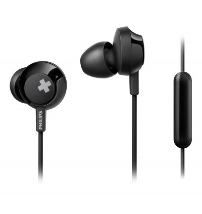 Philips SHE4305 Bass+ 12.2 mm Speaker Drivers In-Ear Headphones with Mic