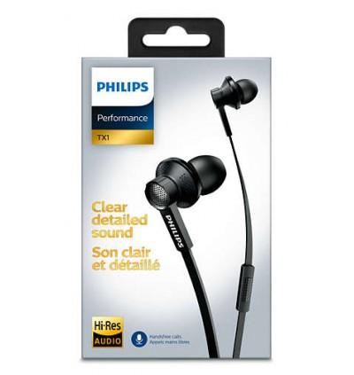 Philips TX1 HiRes Earphone HIFI Active Noise Cancelling Earphones with Mic