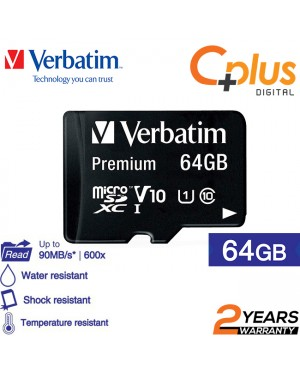 Verbatim microSDHC, 64GB, C10, 80MB/S Without Adapter