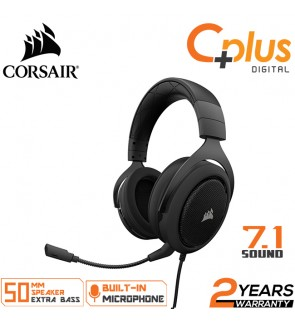 CORSAIR HS60- 7.1 Virtual Surround Sound PC Gaming Headset w/USB DAC - Discord Certified Headphones,Compatible with Xbox One, PS4, and Nintendo Switch
