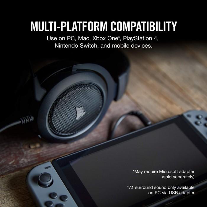CORSAIR HS60- 7 1 Virtual Surround Sound PC Gaming Headset w