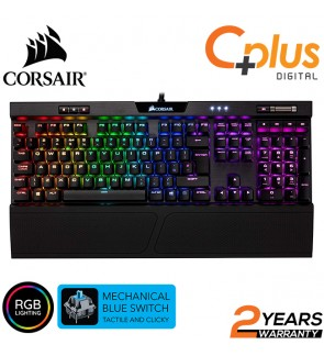 CORSAIR K70 RGB MK.2 Mechanical Gaming Keyboard - USB Passthrough & Media Controls - Tactile & Clicky - Cherry MX Blue - RGB LED Backlit