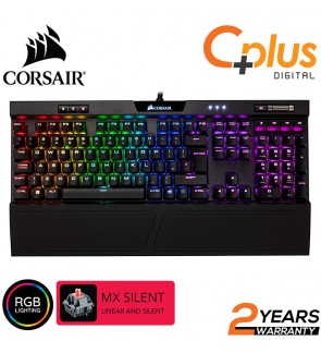 Corsair K70 RGB MK.2 Mechanical Gaming Keyboard - USB Passthrough & Media Controls - Linear & Silent - Cherry MX Silent - RGB LED Backlit