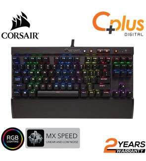 Corsair K65 Rapidfire - RGB Backlit Mechanical Gaming Keyboard - USB Passthrough & Media Controls - Fastest & Linear - Cherry MX Speed