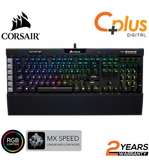 Corsair K95 RGB Platinum Mechanical Gaming Keyboard - 6x Programmable Macro Keys - USB Passthrough & Media Controls - Fastest Cherry MX Speed - RGB LED Backlit