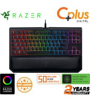 Razer Blackwidow Tournament Edition Chroma V2 Mechanical Gaming Keyboard: Green Key Switches - Tactile & Clicky