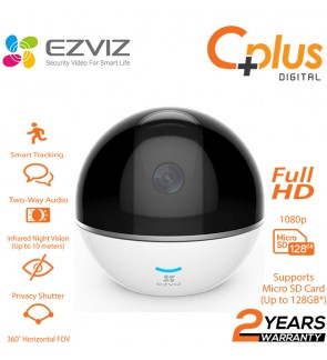 EZVIZ C6TC 2MP 1080P Full HD IP Camera CCTV IP Cam C6T Home Monitoring Night Vision, Two-Way, Talk Pan and Tilt Wi-Fi Indoor Camera