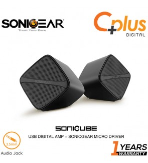 SonicGear Sonic Cube 2.0 USB Speaker with High Clarity Sound for Smartphone and PC