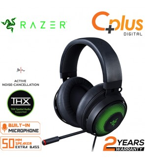 Razer Kraken Ultimate RGB USB Gaming Headset: THX 7.1 Spatial Surround Sound - Chroma RGB Lighting - Retractable Active Noise Cancelling Mic