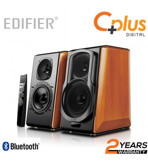 Edifier S2000 Pro Powered Bluetooth Bookshelf Speakers - Near-Field Active Studio Monitor Speaker with Wireless and Optical Input
