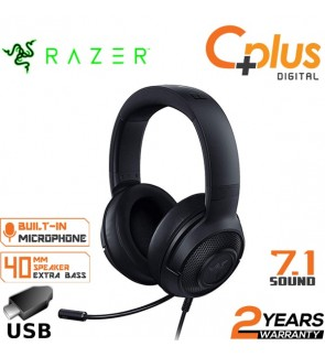 Razer Kraken X USB Ultralight Gaming Headset: 7.1 Surround Sound Capable - Lightweight Frame - Bendable Cardioid Microphone - For PC, Xbox, PS4, Nintendo Switch - Black