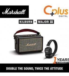 [Bundle Package ] Marshall KILBURN Portable Bluetooth Speaker with MAJOR III Wired Headphone Kilburn Bundle