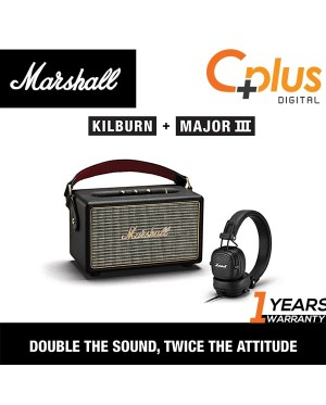 [Bundle Package ] Marshall KILBURN Portable Bluetooth Speaker with MAJOR III Wired Headphone Kilburn Bundle