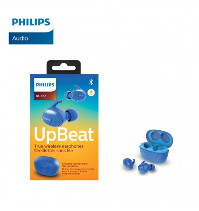 Philips Upbeat SHB2505 True Wireless Earbuds, with Up to 3+9 Hours of Playtime, Charging Case