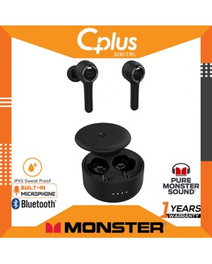 Monster Clarity 102 Airlinks Bluetooth 5.0 IPX5 Waterproof True Wireless Earbuds built-in Dual Mic for Clearer Hands-Free Call