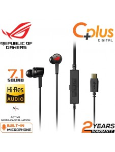 ASUS ROG Cetra In-Ear Gaming Headphones with Active Noise Cancellation (ANC), 7.1 Surround Sound, 10 mm Drivers and USB-C Connector for PC, PS4, Mobile and Nintendo Switch