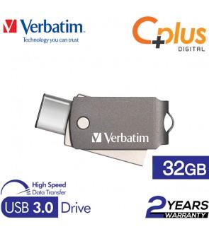 Verbatim Dual USB 3.0 Type-C Metal 32GB OTG Drive