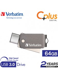 Verbatim Dual USB 3.0 Type-C Metal 64GB OTG Drive