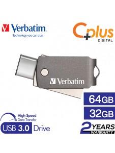 Verbatim Dual USB 3.0 Type-C Metal 32GB / 64GB OTG Drive