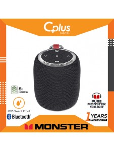 Monster S110 Portable Bluetooth Speakers with Passive Bass Radiator & TWS Function Deliver Deep Bass & Clear Stereo Sound, Compact Size & IPX5