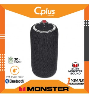 Monster S310 Portable Bluetooth Speakers with 16W Amplifier & TWS Pairing Deliver Rich Bass & Dynamic Stereo Sound, Buit-in Mic for Clear Hands-Free Call, IPX5 Water Resistance Design