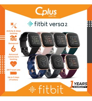 Fitbit Versa 2 Health & Fitness Smartwatch with Heart Rate, Music, Alexa Built-in, Sleep & Swim Tracking,One Size (S & L Bands Included)