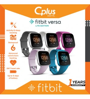 Fitbit Versa Lite Edition Smart Watch Smart Fitness Heart Rate + Activity Tracker + Smart Watches (2 sizes in box)