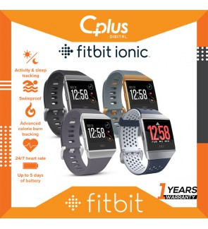 Fitbit Ionic Smart Fitness Heart Rate Activity Tracker Smart Watches (2 sizes in box)