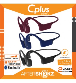 AfterShokz Xtrainerz IP68 Waterproof Wireless Bone Conduction MP3 Headphones with 4GB Memory