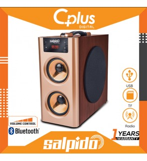 Salpido AIO 2 Classic 2.1 Channel Bluetooth Speaker Support for USB, TF Card ,Radio Function