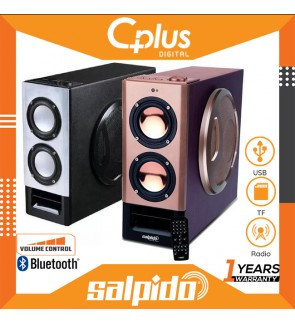 Salpido AIO 5 2.1 Channel Bluetooth Speaker with Volume Control , Support for USB , TF Card , Radio Functions