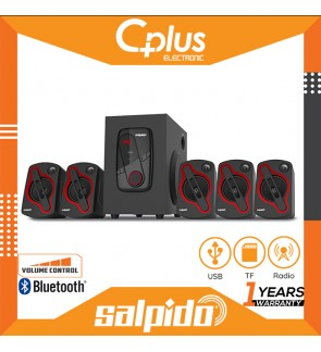 Salpido Console 3 78W 5.1 Channel Bluetooth LED Speaker with Remote Control, Support for USB, SD , Radio Functions