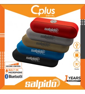 Salpido S207 Portable Bluetooth Speaker with Volume Control Support for USB,SD Cards,Radio Functions