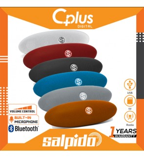 Salpido S6 Portable Bluetooth Speaker with Volume Control & Torch Light, Support for USB , SD Cards, Radio Functions