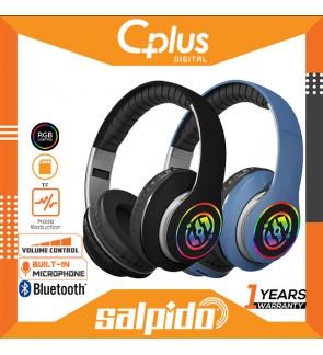 Salpido B12 Bluetooth On-Ear RGB Lightning Headphone with Mic & Volume Control