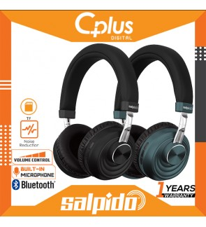 Salpido B16 Bluetooth 5.0 On Ear Headphone with Microphone & Volume Control , Support for TF Cards