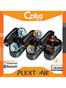 Plextone 4Life Bluetooth 5.0 TWS True Wireless Semi In-Ear Earbuds For Music & Gaming