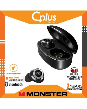 Monster Achieve Airlinks Bluetooth 5.0 True Wireless Earbuds with Delivers Deep Bass & Immersive Sound, IPX5 Water Resistant Design for Sports
