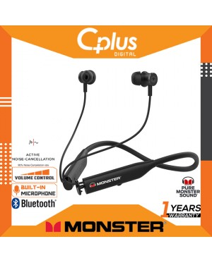 Monster Flex Active Noise Cancelling Bluetooth Wireless In-Ear Headphones With Mic & Volume Control , Up to 8 Hours of Playtime