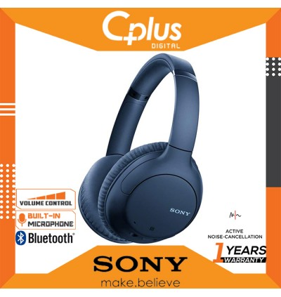 Sony WH-CH710N Active Noise Cancelling Bluetooth Wireless On-Ear Headphone with Mic & Volume Control