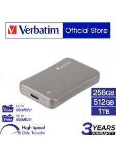 Verbatim VX560 USB 3.1 External Solid State Drive (256GB/512GB/1TB)