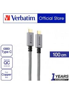 Verbatim Type C to C cable 100cm - Grey