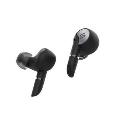 Soul Electronics Sync Pro Bluetooth 5.0 Superior True Wireless Noise Cancellation Earbuds with Dual Mic, IPX 5, Qualcomm Aptx Chipset